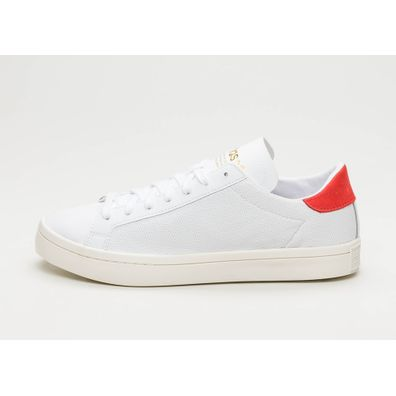 adidas Court Vantage (Ftwr White / Ftwr White / Red Sld) productafbeelding