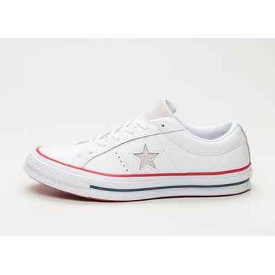 Converse One Star Ox (White / Gym Red / White) productafbeelding