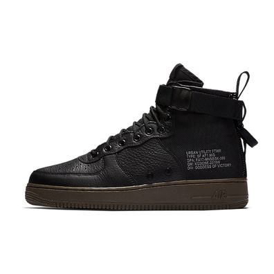 "Nike SF-AF1 Mid ""Black/Cargo Khaki"" productafbeelding"