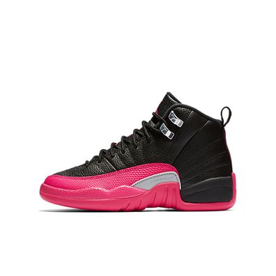Nike Air Jordan 12 Retro GG *Deadly Pink* (Black / Deadly Pink - Metal productafbeelding