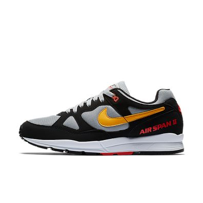 Nike Air Span II (Black / Yellow Ochre - Wolf Grey) productafbeelding