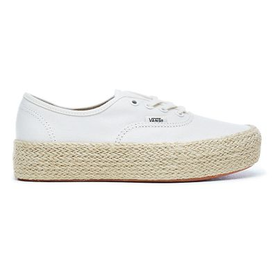 VANS Marshmallow Authentic Platform Espadrille  productafbeelding