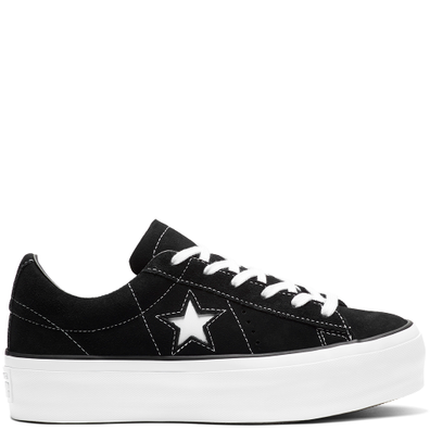 Converse One Star Platform Suede Low Top productafbeelding