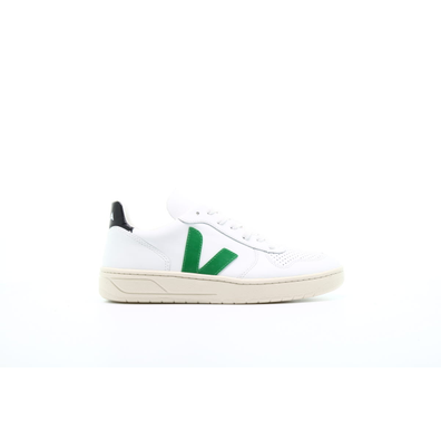 "Veja V10 Leather ""Extra White Emeraude Black"" productafbeelding"
