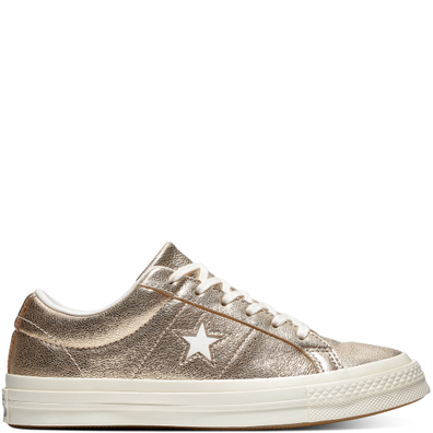 One Star Metallic Leather Low Top productafbeelding