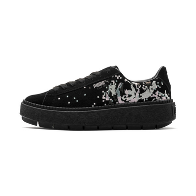 Puma Suede Platform Digital Embroidery Womens Trainers productafbeelding