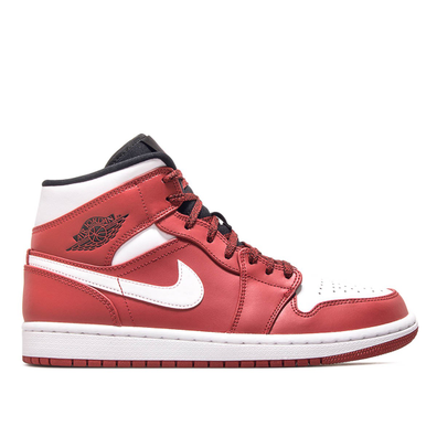 Nike Jordan 1 Mid Red White Black productafbeelding
