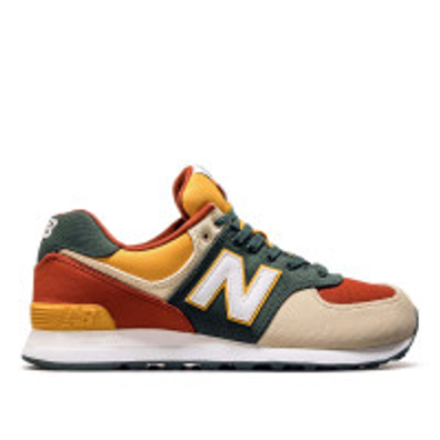 New Balance ML 574 IND Beige Orangr Gree productafbeelding