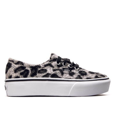 Vans Authentic Plattform Fuzzy Leo Grey productafbeelding