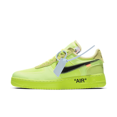 Off-White X Nike Air Force 1 Low 'Volt' productafbeelding