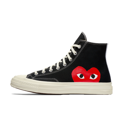 Comme Des Garcons Play X Converse Chuck 70 High 'Black' productafbeelding