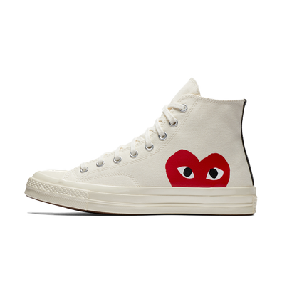 Comme Des Garcons Play X Converse Chuck 70 High 'White' productafbeelding