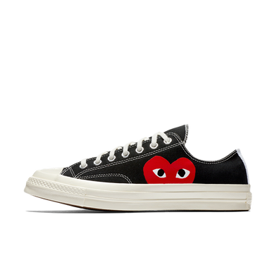 Comme Des Garcons Play X Converse Chuck 70 Low 'Black' productafbeelding