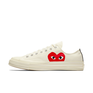 Comme Des Garcons Play X Converse Chuck 70 Low 'White' productafbeelding
