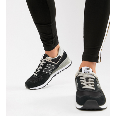 New Balance Wmn WL 574 EB Black Grey productafbeelding