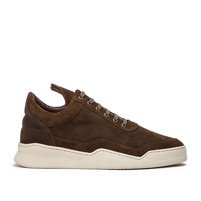 Filling Pieces Low Top Ghost Waxed Suede productafbeelding