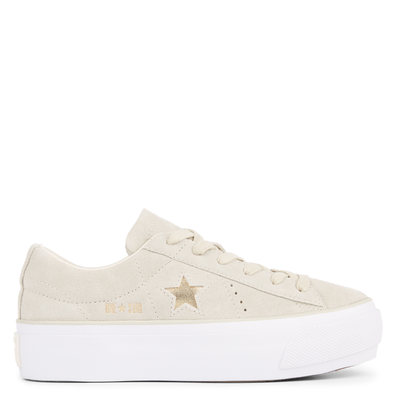 One Star Platform Suede Low Top productafbeelding