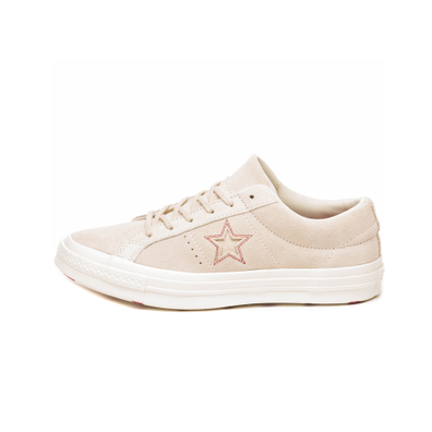 Converse One Star Ox (Egret / Egret / Rhubarb) productafbeelding