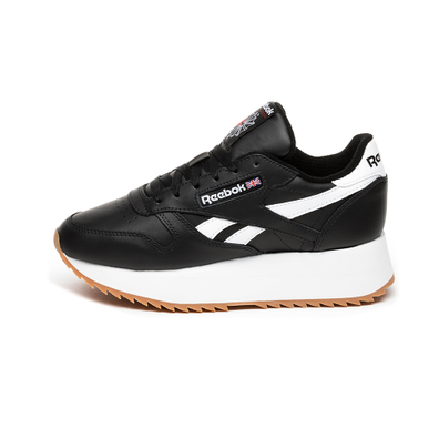 03a50bd10a0f5 Reebok Classic Leather Double (Black   White   Primal Red)