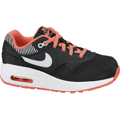 Nike Air Max 1 (PS) Black/White-Hyper Punch-Black productafbeelding