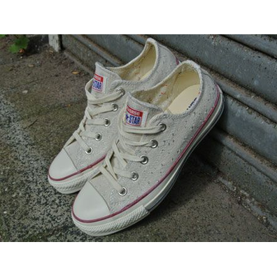 Converse All Star Low Sparkle Lurex Ox Natural productafbeelding