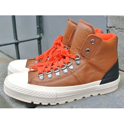 Converse CT Leather Street Hiker Hi Pinecone Brown/Parchment/Fire productafbeelding