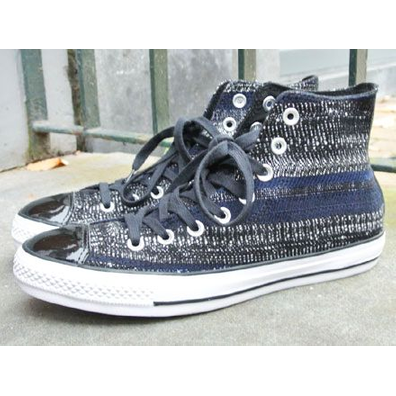 Converse CT All Star Wmns Dobby Weave Hi Black Navy productafbeelding