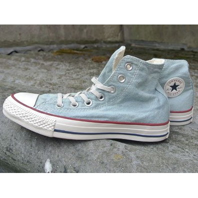 Converse All Star Hi Washed Denim Light Blue productafbeelding