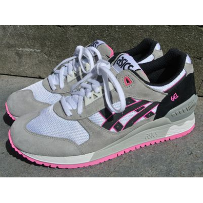 Asics Gel-Respector White/Black/Pink productafbeelding