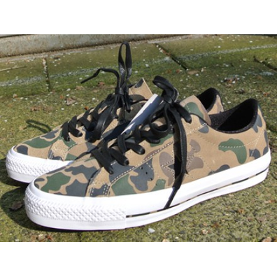Converse Cons One Star Pro Ox Camo Sandy/Chocolate/Bla productafbeelding