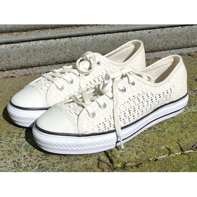 Converse Chuck Taylor All Star High Line Ox Parchment White productafbeelding