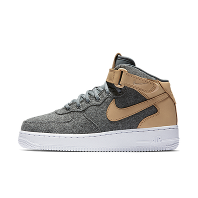 Nike Wmns Air Force 1 '07 Mid Lthr Premium Oatmeal/oatmeal-oatmeal-black productafbeelding