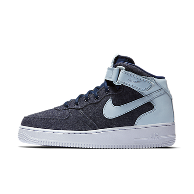 Nike Wmns Air Force 1 '07 Mid Lthr Premium Midnight Navy/midnight Navy-blue Grey productafbeelding