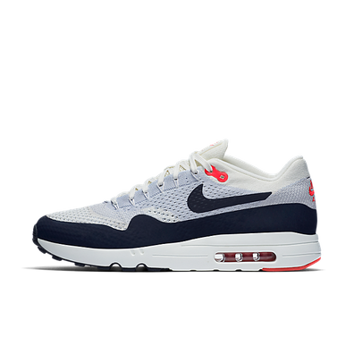 Nike Air Max 1 Ultra 2.0 Flyknit Sail/obsidian-wolf Grey-university Red productafbeelding
