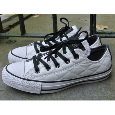 Converse Chuck Taylor Ox Quilted Nylon White-Black productafbeelding