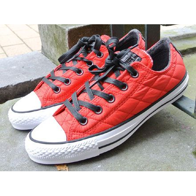 Converse Chuck Taylor Ox Quilted Casino Red-Black-White productafbeelding