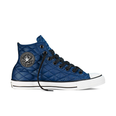 Converse Chuck Taylor Hi Quilted Blue White Black Nighttime productafbeelding
