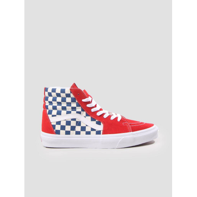 Vans UA SK8-Hi Bmx Checkerboard True Blue Red VN0A38GEU8H1 productafbeelding