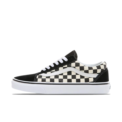 Vans Old Skool Primary Check Black White productafbeelding