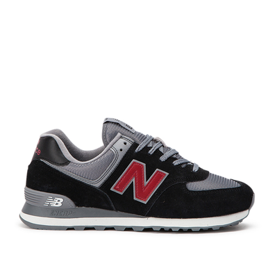 New Balance ML574 ESU Black Grey Bordo productafbeelding