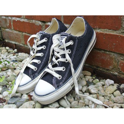 All Star Low Sparkle Lurex Ox Black productafbeelding