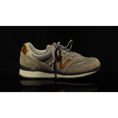 New Balance Wr996 Pig Suede Mesh Grey productafbeelding