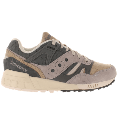 Saucony Grid SD Quilt Charcoal Grey Light Tan productafbeelding