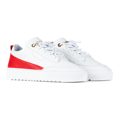 Mason Garments Torino - Leather - White / Red productafbeelding