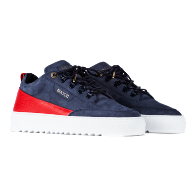 Mason Garments Torino - Nubuck / Leather - Navy productafbeelding
