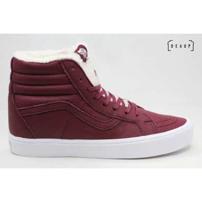 Vans Sk8-Hi 'Faux Fur Burgundy Leather' productafbeelding