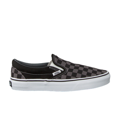 Vans Classic Slip-On Black/ Pewter Checkerboard productafbeelding
