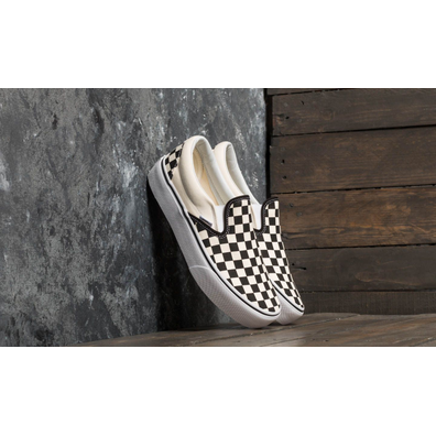Vans Classic Slip-On Platform Black And White Checkerboard/ White productafbeelding
