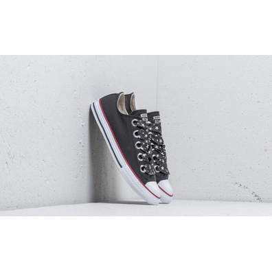 Converse Chuck Taylor All Star Big Eyelet Ox Almost Black/ Driftwood/ White productafbeelding