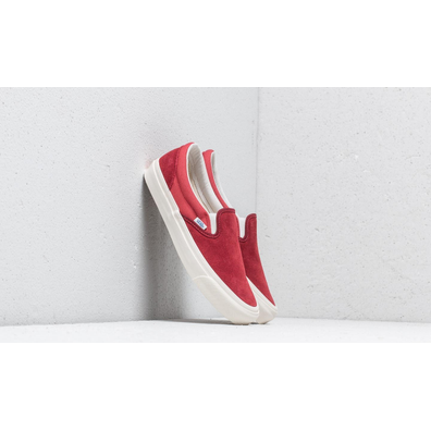 Vans OG Classic Slip-On (Suede/ Canvas) Sun-Dried Tomato/ Mineral Red productafbeelding